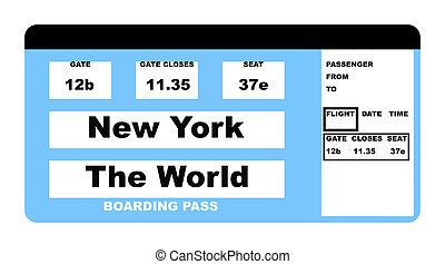 New York The World ticket