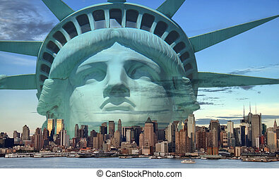 new york, tourisme, concept