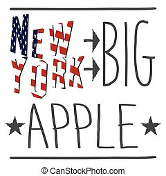 New York typography poster, t-shirt