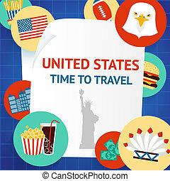 New York USA background template