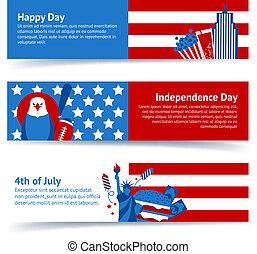 New York USA banner set
