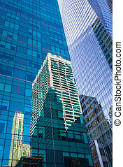 Manhattan modern architecture - NEW YORK, USA - Jun 01, 2014...
