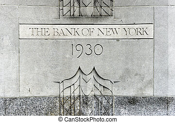 The Bank of New York Building - New York, USA - May 31,...
