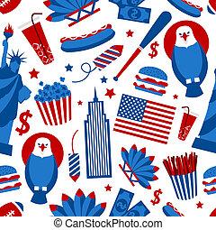 New York USA seamless pattern