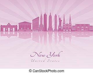 New York V3 skyline in purple radiant orchid