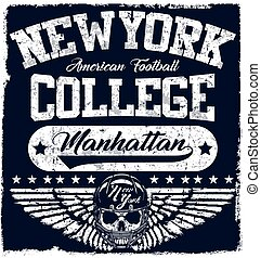 New york Varsity Sport vector print and varsity. For t-shirt...