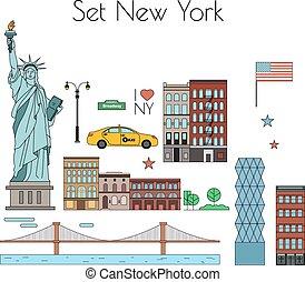 New York - Vector set of New York city