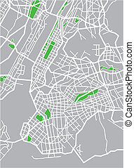 new york - vector map of New York.