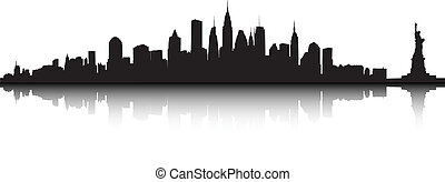 New York vector - Vector part of the New York skyline.