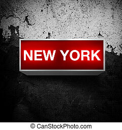 NEW YORK, Vintage light display