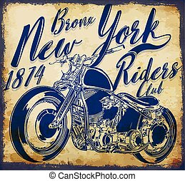 new york vintage t-shirt graphic