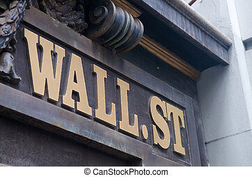New York Wall Street - World famous Wall Street in New York