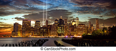 New York with Tribute in Light
