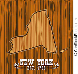 New york wood map