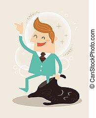 New you self improvement concept illustration