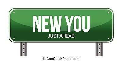 new you sign illustration design