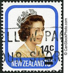 NEW ZEALAND - 1977: shows shows queen Elizabeth II - NEW ...