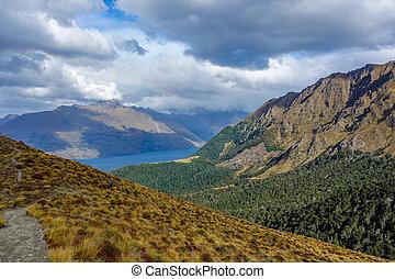New Zealand 92 - Wakatipu Lake from Ben Lomond track...