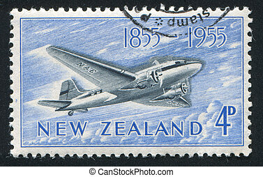 Douglas - NEW ZEALAND - CIRCA 1955: stamp printed by New ...