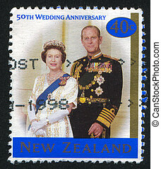 Queen Elizabeth II and Prince Philip - NEW ZEALAND - CIRCA...