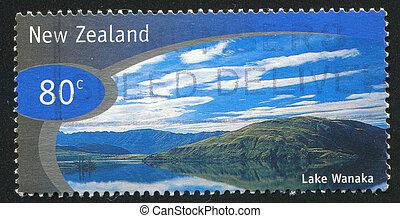NEW ZEALAND - CIRCA 1998: stamp printed by New Zealand, shows Lake Wanaka, circa 1998