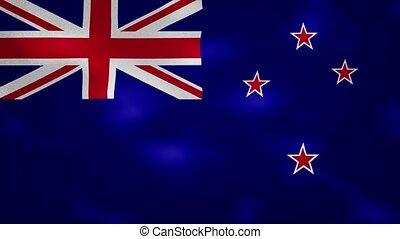 New Zealand dense flag fabric wavers, background loop - New ...