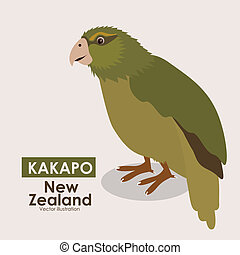 New zealand design over beige background, vector...