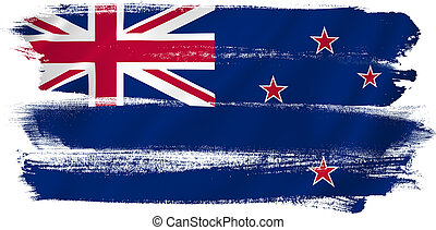 New Zealand flag backdrop background texture.
