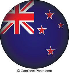 New Zealand flag button. - New Zealand flag button on a...