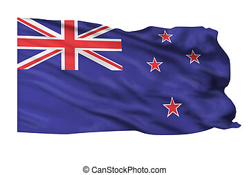 New Zealand Flag. -  Flag of New Zealand flying high.