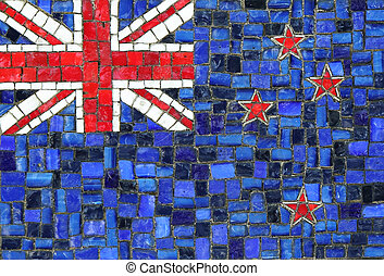 New Zealand Flag in Mosaic