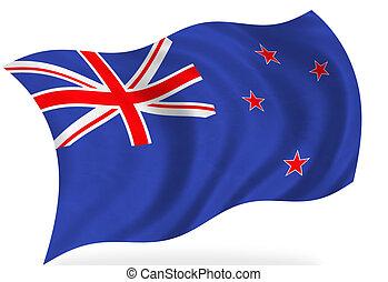 New Zealand flag, isolated