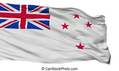 New Zealand Flag Isolated Seamless Loop - Naval Ensign Of...