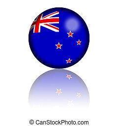 New Zealand Flag Sphere 3D Rendering