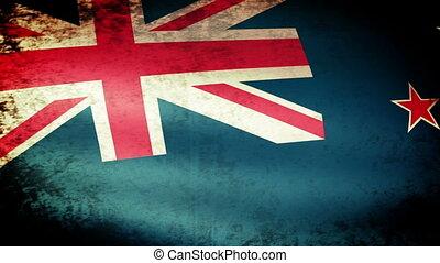 New Zealand Flag Waving
