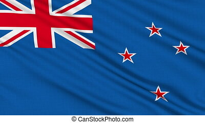 New Zealand flag, with real structure of a fabric