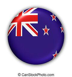 New Zealand Flag - World Flag Button Series - Oceania - New...