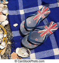 New Zealand Flip-flops - AUCKLAND - OCT 25 2015:New Zealand...