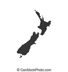 New Zealand map on the white background. Vector illustration
