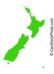 New Zealand map outline