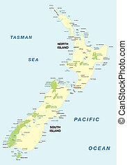 new zealand national park map