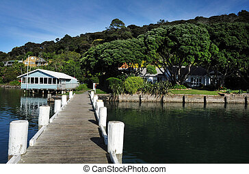 New Zealand Northland - An historic buildings in Mangonui...