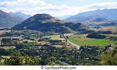 New Zealand panorama - Panoramic view over beautiful New...