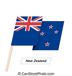 New Zealand Ribbon Waving Flag Isolated on White. Vector ...