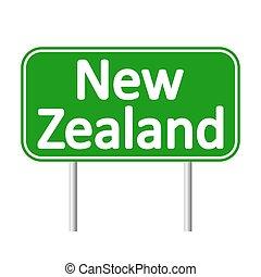 New Zealand road sign.