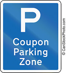 New Zealand road sign - Coupon parking zone repeater sign