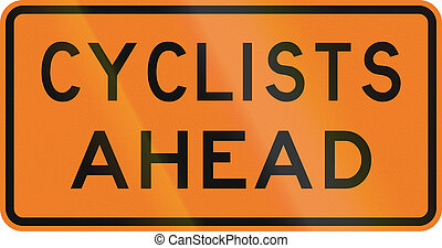 New Zealand road sign - Cyclists ahead