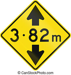 New Zealand road sign - Low overhead clearance ahead