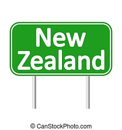 New Zealand road sign.