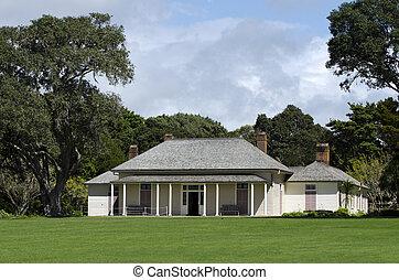 New Zealand Treaty House - WAITANGI - OCTOBER 02: The Treaty...